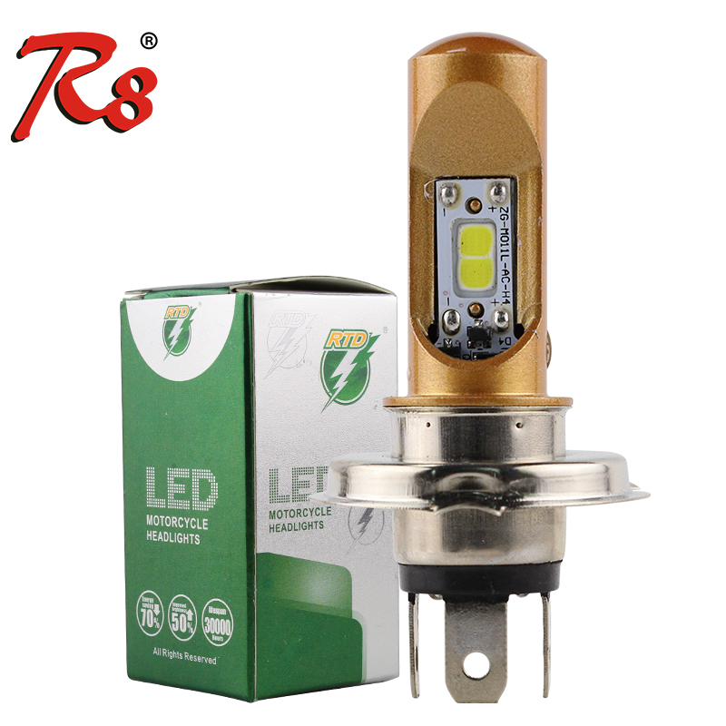 RTD Motorcycle M11L Series LED Headlight Bulbs H4 HS1 H6 H6M P15D-25-1 Wireless Lamps 8W DC9-12V 1000LM For Motorbike Scooters