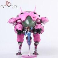 DOWIN Hot Game OW Hero Hana Song 24cm Size DVA D VA With Mecha PVC Figure