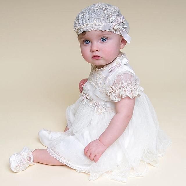Реликвия Ребенка Маленького Ребенка Девушка Платья Крещение Платье Рождения Детей Платья Крещение Платье С Капота 3 М, 6 М, 9 М, 12 М, 18 М, 24 М