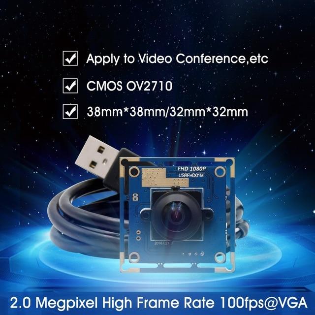 Ominivison OV2710 1080P Wide angle USB camera module MJPEG 30fps/60fps/120fps high speed 180 degree fisheye CMOS camera board