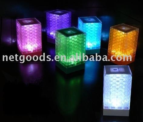 Block floor lamp