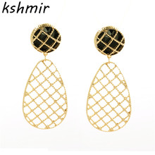 European and American wind fashion accessories Ms ms new earrings geometric water modelling stud