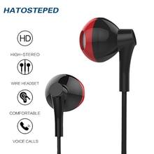 Wired Earphone 3.5mm earphone For Phone Stereo Sound Headset In-Ear Earphone With Mic Earbuds Earpiece Fone De Ouvido kulaklik цена 2017