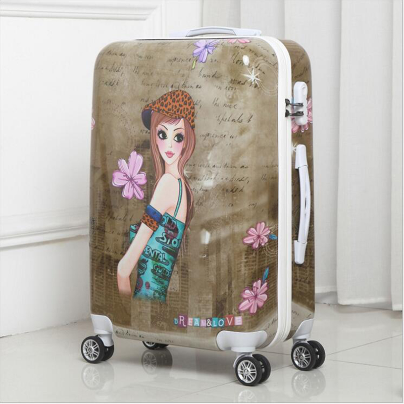 Trolley Case ABS + PC20 24Wheel Luggage Suitcase Lady Mens Travel Suitcase Student Adult Portable Suitcase Password Suitcase