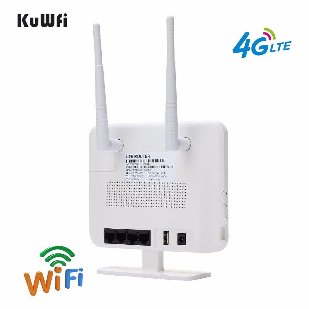 KuWFi Entsperrt 300 Mbps 4G LTE CPE Router 3G 4G Drahtlosen Modus ...
