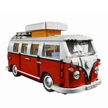 Mailackers Legoing Technic Blocks The T1 Camper Van Car City Building Blocks Legoings Friends Bricks Kids Toys For Children Gift(China)