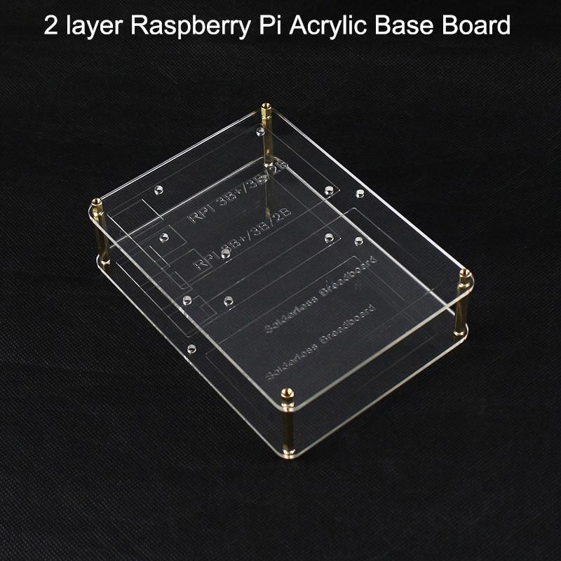 2 Layer Raspberry Pi Acrylic Mounting Plate 14.5 *10.5 Cm For Breadboard ,GPIO Expension Board,RPI Board Raspberry Pi 4B/3B+/3B
