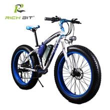 RichBit New Super Ebike Potente Moto de Nieve Eléctrico 21 Velocidad Ebike 48 V 1000 W Eléctrico Fat Tire Bike Con 17AH batería de Litio batería