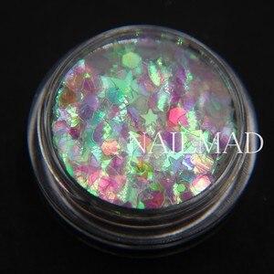 Image 3 - 3ml/box Nail Art Glitter Mix Star Heart Hexagon Acrylic Glitter Mixes Nail Sequins Colorful Glitter Nail Art Decorations