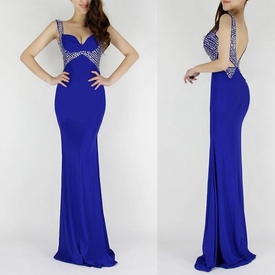 Purple Blue Evening Dresses