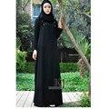 Mujeres musulmanes visten fotos Nueva robe longue abrigo de manga larga y larga duración jilbab turco turco