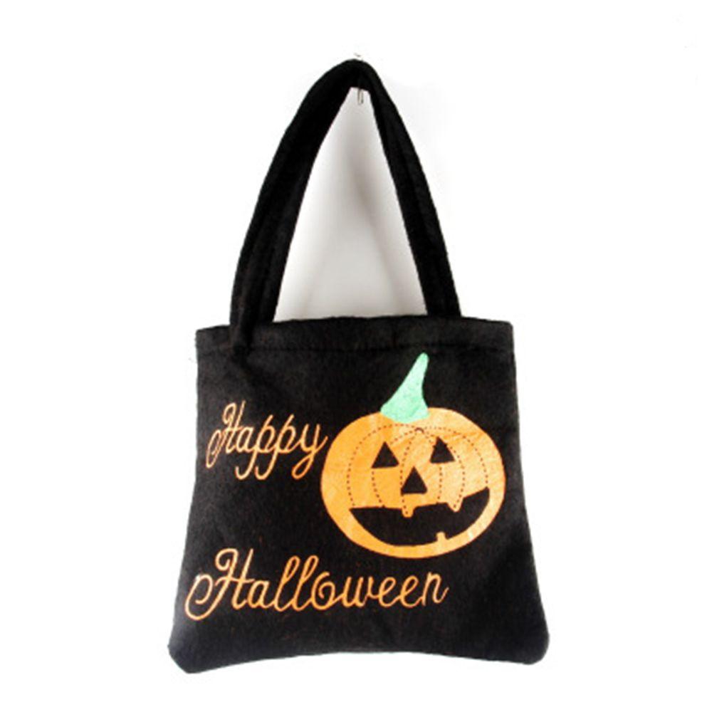 1 Pcs Kreative Cartoon Vlies Tuch Halloween Candy Tasche Einkaufstasche Halloween Prop Festival Party Tasche Für Kinder Geschenk Letzter Stil