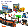 Models Building Toy 02038 1767pcs The City Square Building Block Compatible With Lego City Series 60097