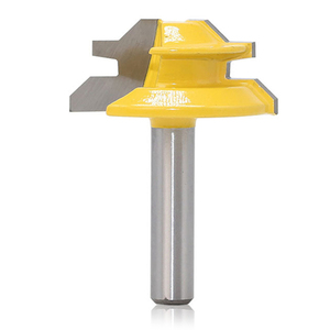 Image 4 - 1Pc 45 Degree Lock Miter Router Bit 8*1 1/2 Inch Shank Woodworking Tenon Milling Cutter Tool Drilling Milling For Wood Carbide