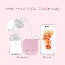 Oeak розовые автоматические молочные насосы Электрический молокоотсос натуральный всасывающий комплект для увеличения груди бутылочка USB молокоотсос