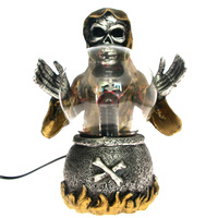 Halloween Decoration Destroyer of Worlds Grim Reaper Plasma Crystal Ball Accent Lamp