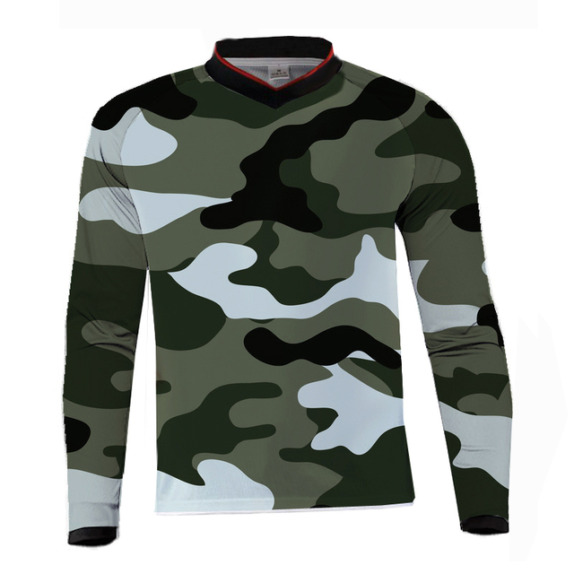 6044b0b81a17f motocross jersey downhill camiseta ropa mtb Long Sleeve camouflage Moto  Jersey mountain bike dh shirt mx motorcycle clothing -in Cycling Jerseys  from Sports ...