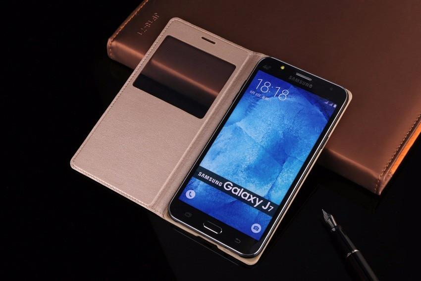 Slim View Window Flip Case for Samsung Galaxy J5 2015 - Բջջային հեռախոսի պարագաներ և պահեստամասեր - Լուսանկար 1