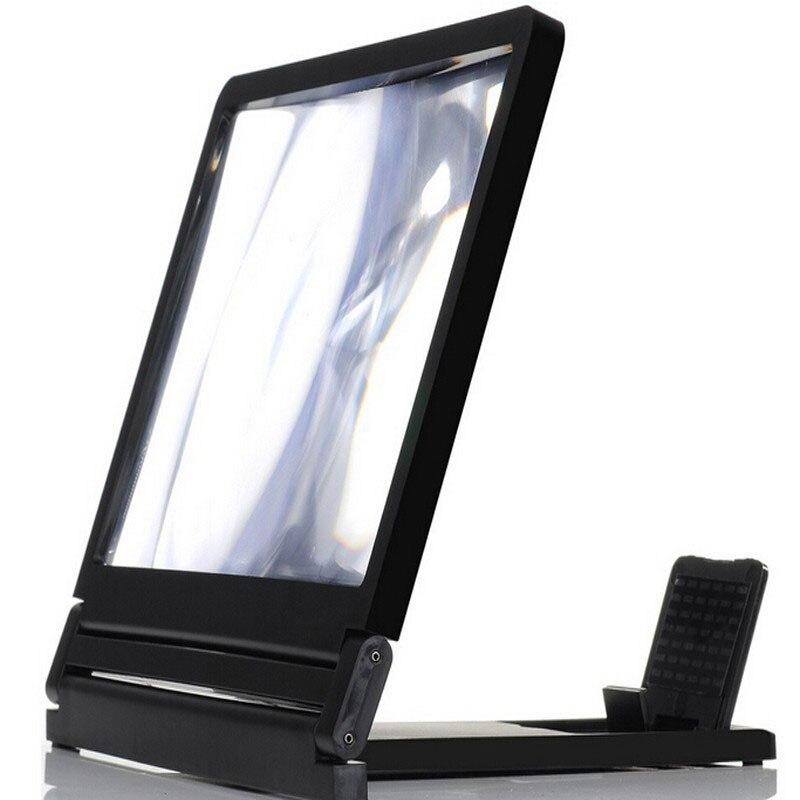 אוניברסלי מתקפל נייד זכוכית אורגנית טלפון נייד מסך זכוכית מגדלת סוגר להגדיל עם מעמד עבור Samsung טלפונים 3X פעמים