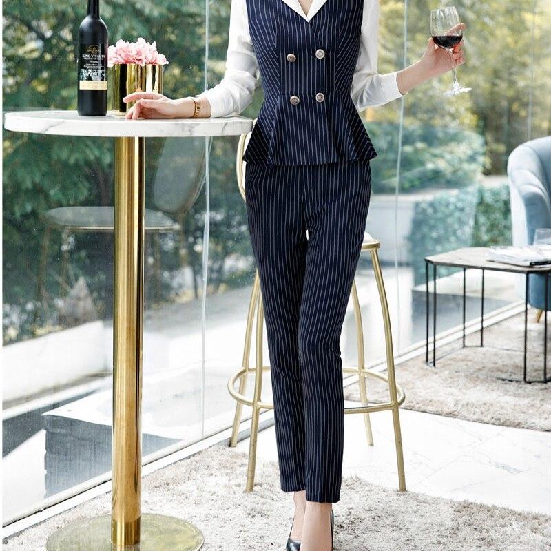 Novelty Striped Formal OL Styles   Pants   For Women Business Work Wear Ladies Office Leggings   Pants   Trousers   Capris