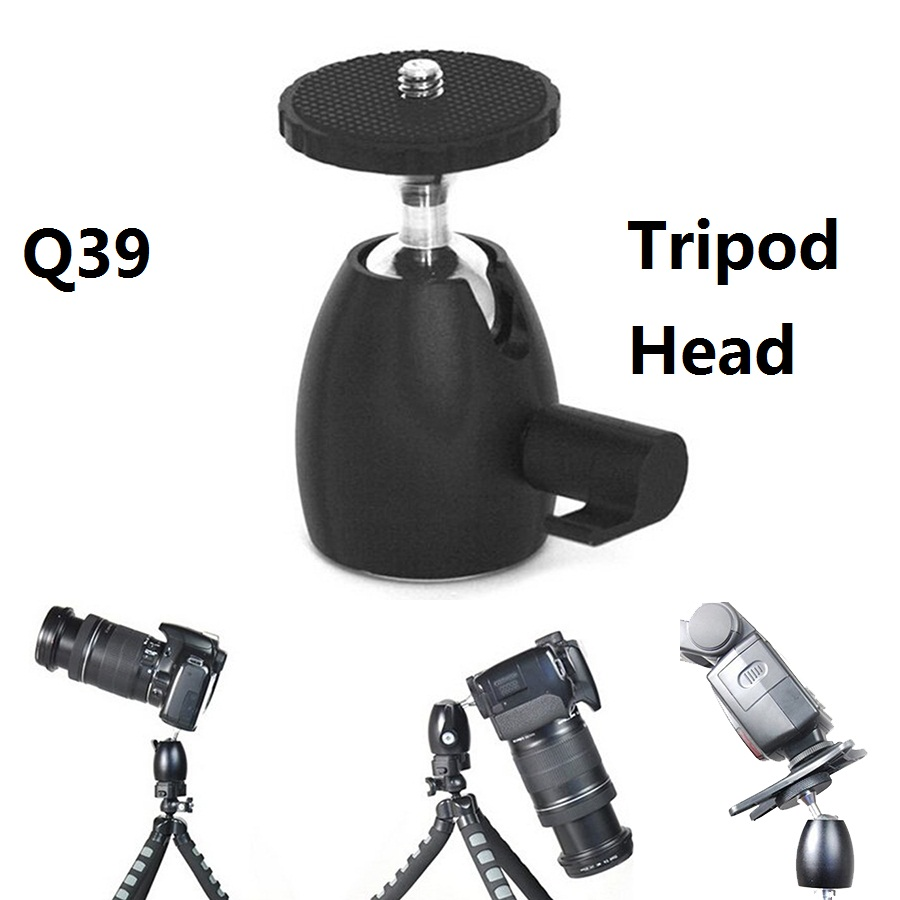 Q39 Mini Rotule Trépied Chefs 1/4 ''Hot Shoe Mount Stand adaptateur All Metal Rotule pour Trépied Manfrotto Lumière Stand