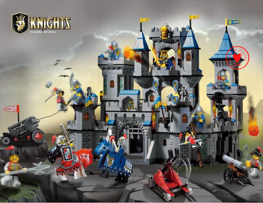 1023 Enlighten Castle Knight Model Building Block bricks Medieval Lion lepin Carriage Toys kid compatiable legoes kid gift set джинсы quelle b c best connections by heine 101454