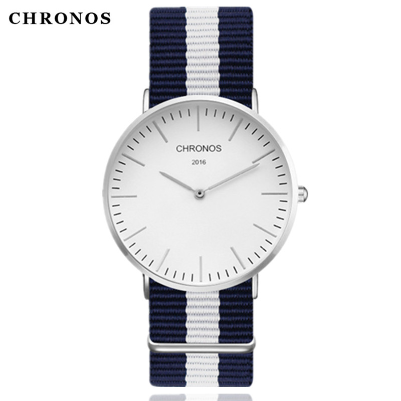 CHRONOS 2017 Quartz Watch Luxury Brand Men Casual Watches Women Wrist Watch Clock Hodinky Ceasuri Relogio Masculino Montre Femme chronos brand fashion men s watch casual ladies quartz watch simple nylon strap hit color couple watch relogio masculino
