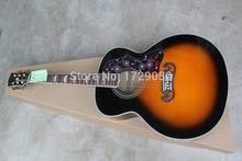 Beste Preis China gitarrenfabrik benutzerdefinierte 100% New sunburst J200 akustik-gitarre 1112
