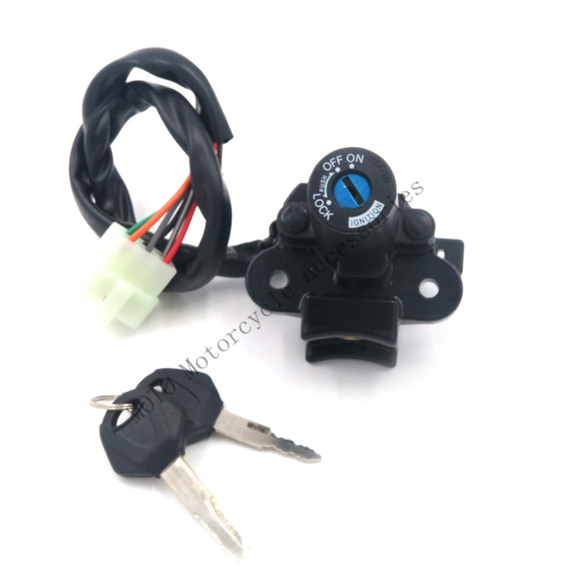 For Ninja 300 2013 2014 Motorcycle Ignition Switch Gas Cap Cover Seat Lock Key Set Motorbike 6 Wire Connection