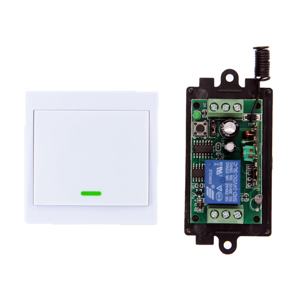 все цены на DC 9V 12V 24V 1 CH 1CH RF Wireless Remote Control Switch System Receiver+86 Wall Panel Transmitter,315/433 MHz Toggle онлайн