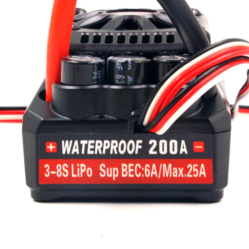 Leopard Hobby Ground WP BL5 200A ESC waterproof 34V (MAX5) 3-8S for rc 1/5 cars crawler buggy g2aps450 airport ground vehicles geminijets 1 200 ground commercial jetliners plane model hobby