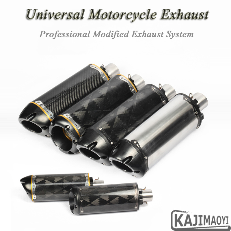 Modified Motorcycle Exhaust Pipe Escape Sticker CNC For CBR1000RR CBR600 R6 Moto Carbon Muffler Twobrothers Two Bothers Exhaust