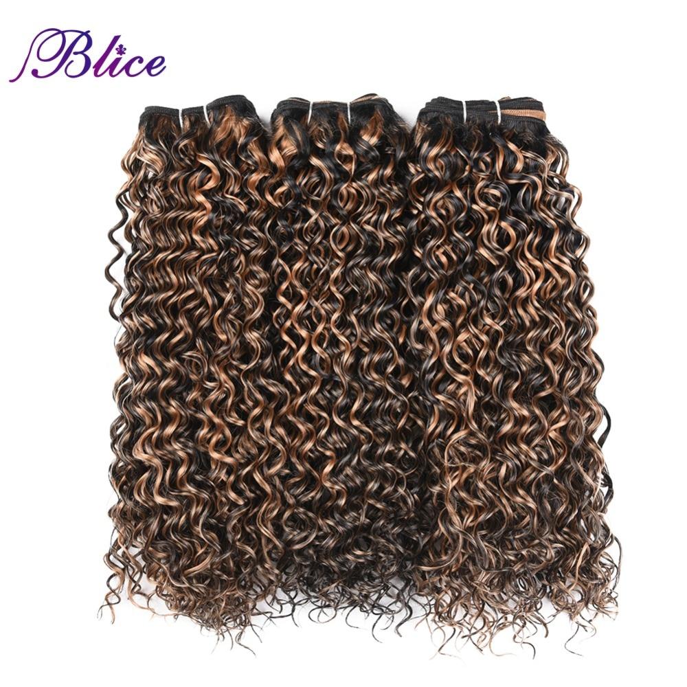 Blice Syntetisk Hår Vävning 10-24 tums Blandade Färger Vatten Wave - Syntetiskt hår