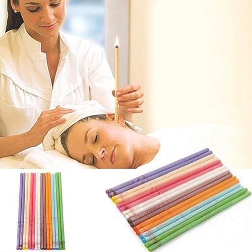 10Pcs/Set Natural Ear Candle Coning Beewax Quicker Ear Candling Removal Cleaner Therapy Straight Style For Ear Care