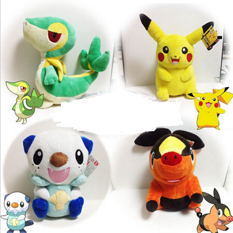 30cm Pikachu Plush Toy Pikachu Oshawott Snivy Tepig Soft Stuffed Animal Plush Doll With Tag Plush Toys kids toys Gift 22cm pikachu plush toys high quality cute plush toys children s gift toy kids cartoon peluche pikachu plush doll christmas gifts