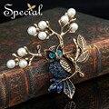 Special nova moda pinos broche de ouro-banhado broches cz diamante do vintage coruja jóias presentes de luxo para as mulheres s1601b
