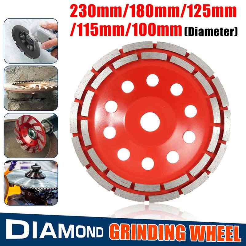 Doersup 100/115/125/180/230 Mm Double Row Diamond Grinding Wheel Disc Bowl Bentuk Grinding piala Beton Granit Batu Alat