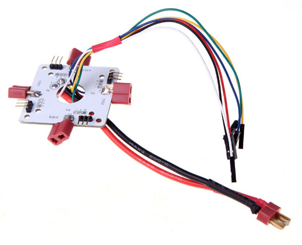 T Plug Power Distribution Board for RC Quadcopter APM PX4 & Paparazzi Flight Controller Board t plug power distribution board 4 axle switch panel for rc quadcopter apm px4