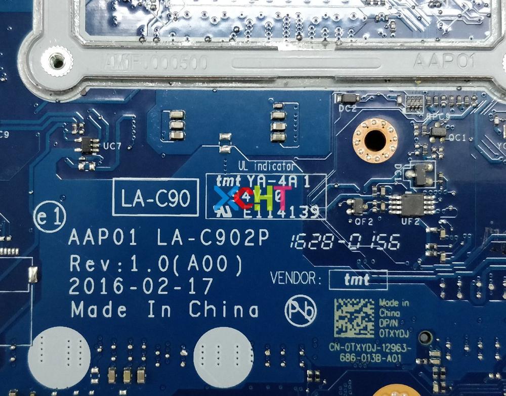 Image 4 - Para Dell Alienware 13 R2 TXYDJ 0TXYDJ CN 0TXYDJ AAP01 LA C902P w i7 6500U CPU N16E GR A1 GPU placa base portátil a pruebaPlaca base de portátil   -