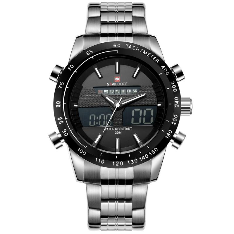 Prix pour NAVIFORCE Hommes Montres Top Marque De Luxe Étanche Date Horloge Mâle En Acier Plein Occasionnel Quartz Sport Montre-Bracelet Relogio Masculino