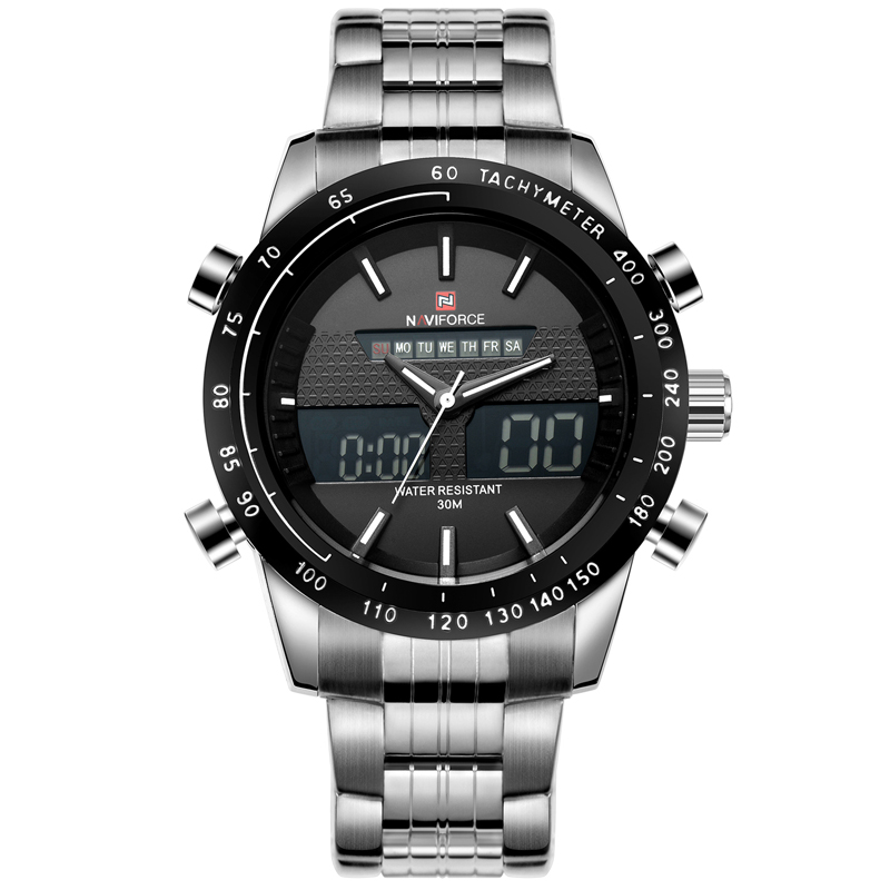 NAVIFORCE Men Watches Top Luxury Brand Waterproof Date Clock Male Full Steel Casual Quartz Sport Wrist Watch Relogio Masculino top brand luxury watch men full stainless steel military sport watches waterproof quartz clock man wrist watch relogio masculino