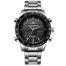 Naviforce data dos homens relógios top marca de luxo à prova d' água relógio masculino aço completa casual quartz relógio de pulso esporte relogio masculino