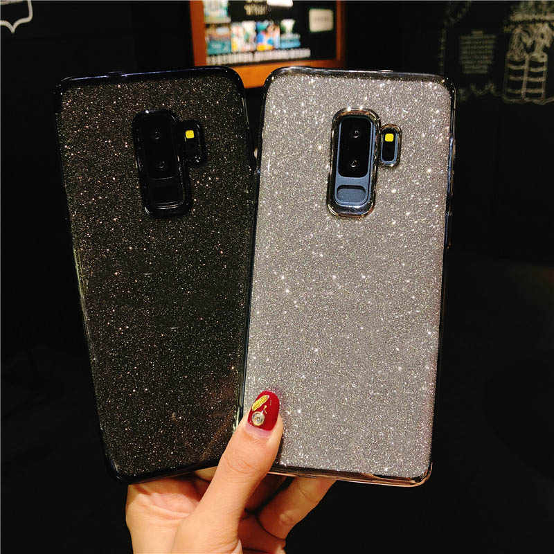 Glitter 2 in 1 TPU Case For Samsung S9 S8 Note 9 J4 J6 A6 A7 A8 Plus 2018 A3 A5 J2 J3 J5 J7 Pro 2017 Cover Silicone Phone Cases