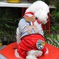 Spot Pet Clothes Bear Dog Clothes and Comfortable Suit Cotton Straps