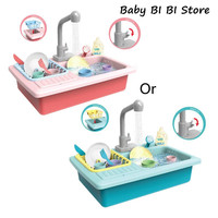 1Set Plastic Simulation Electric Dishwasher Sink Pretend Play Kitchen Toys Children Kids Puzzle Early Education Toy Birthday Gif