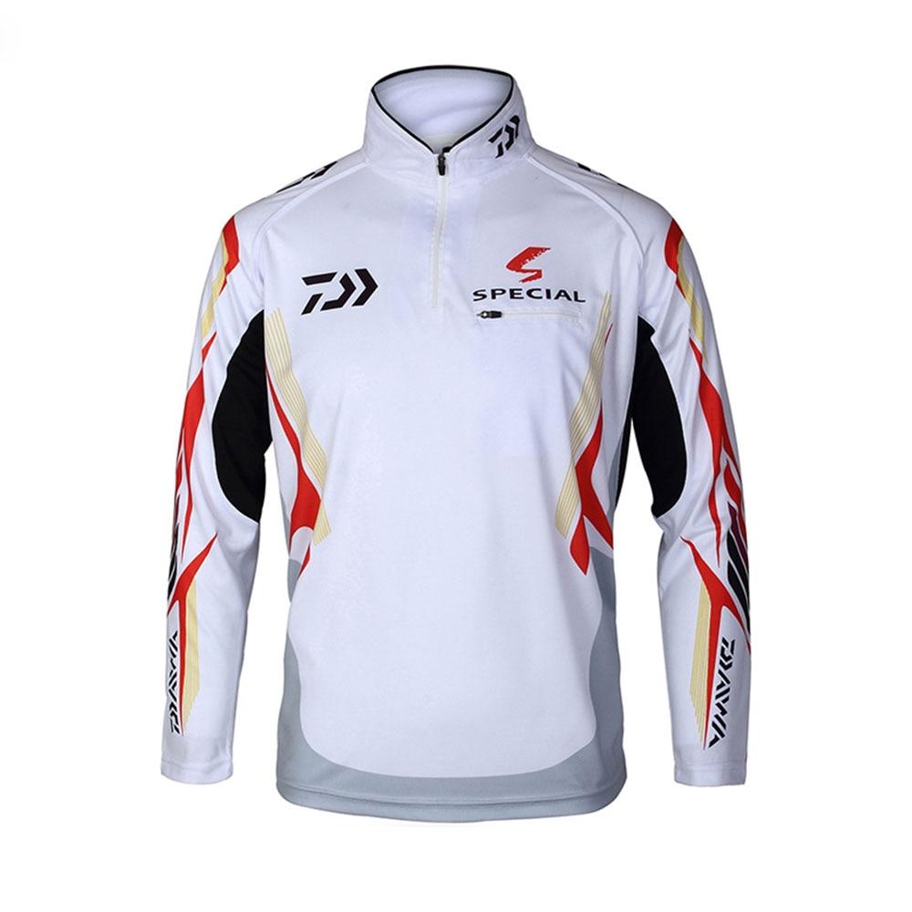 New men brand daiwa fishing shirt uv protection moisture for Uv protection fishing shirts