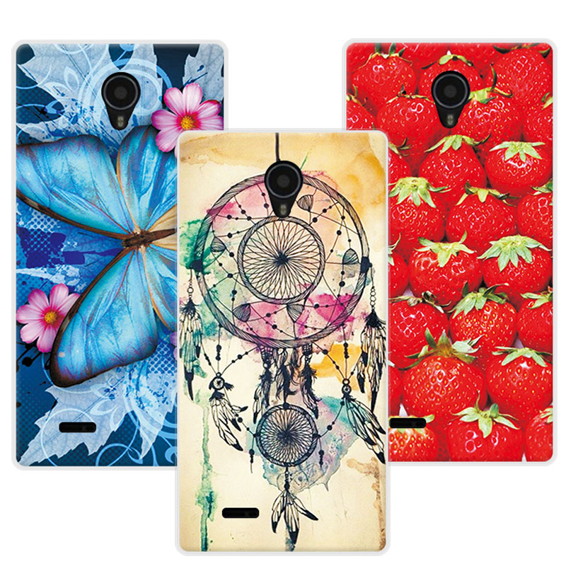 Floral Print Case For Micromax Q415 Women Girls Colorful Beautiful Flowers TPU Cover Cases For Micromax Q 415 Q415 Funda 4.5