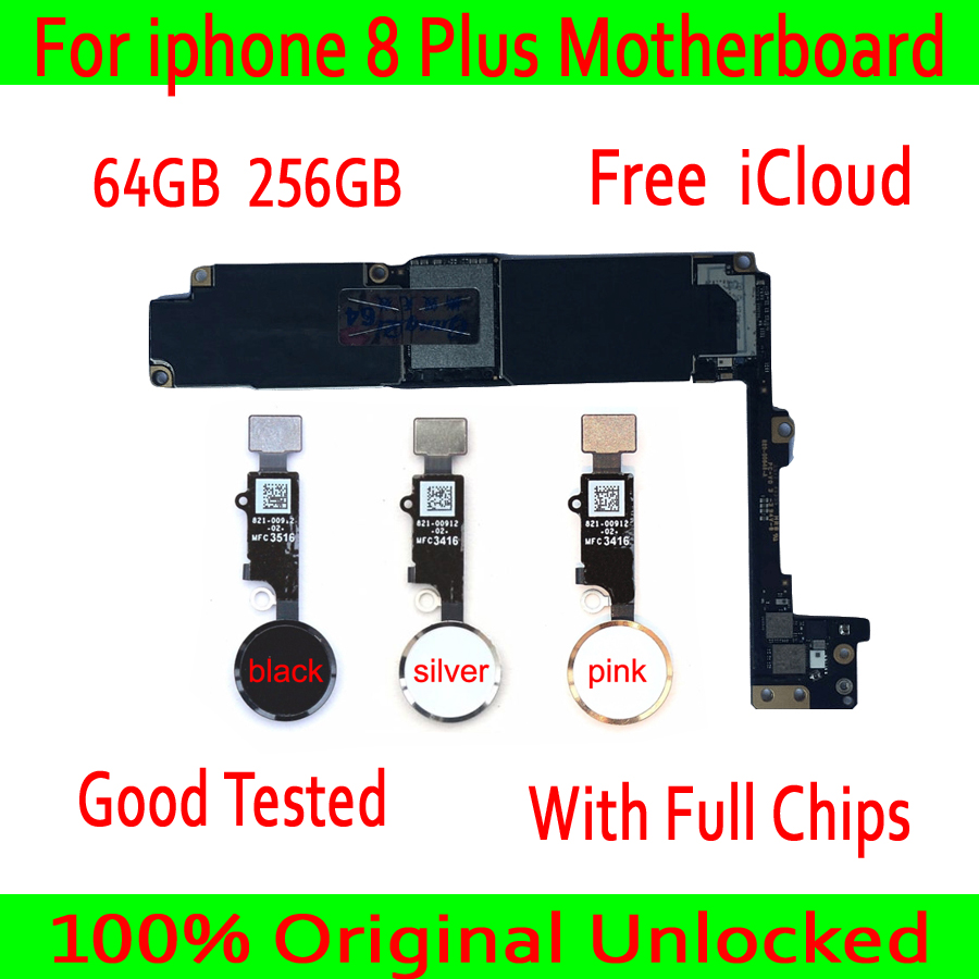 For iphone 8 Plus Motherboard With Touch ID Without Touch ID 100 Original unlocked for iphone
