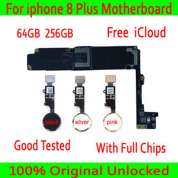 For iphone 8 Plus Motherboard With Touch ID/Without Touch ID 100% Original unlocked for iphone 8 Plus 8p Logic board+Chips - DISCOUNT ITEM  0% OFF All Category