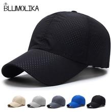 Beisbola cepure cepure vīriešiem sievietēm regulējams sporta golfa vāciņi pavasara tētis cepure ātri sauss poliestera cepures Trucker Snapback vairumtirdzniecība
